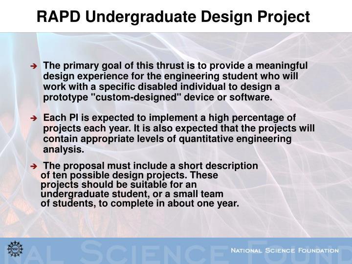RAPD Undergraduate Design Project