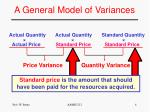 a general model of variances