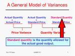a general model of variances1
