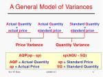 a general model of variances2