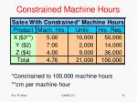 constrained machine hours1