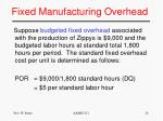 fixed manufacturing overhead