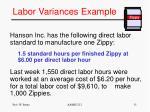 labor variances example