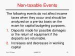 non taxable events