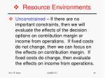 resource environments