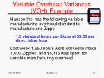 variable overhead variances voh example