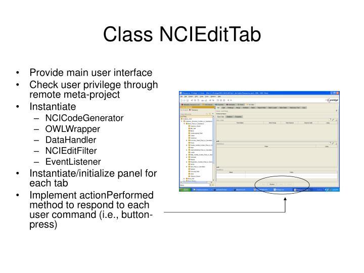 Provide main user interface