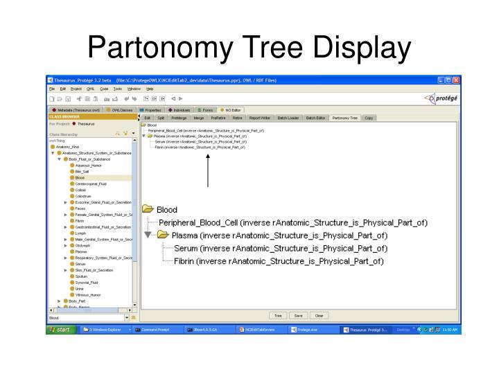 Partonomy Tree Display