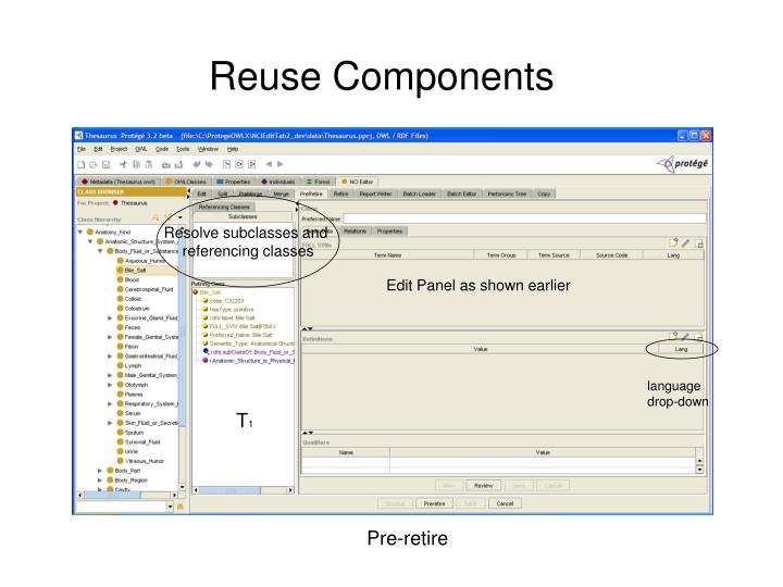 Reuse Components