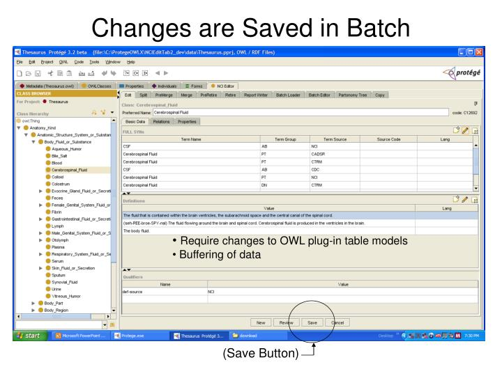Changes are Saved in Batch