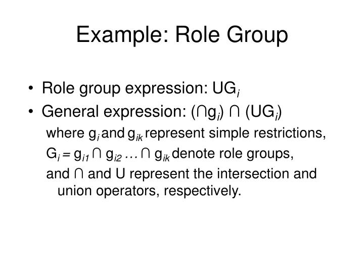 Example: Role Group