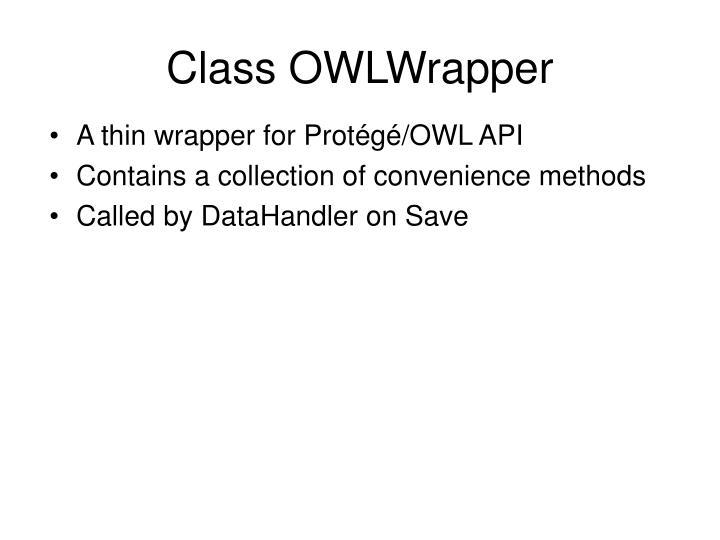 Class OWLWrapper