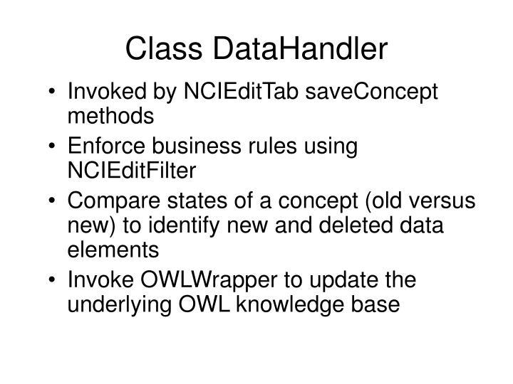 Class DataHandler