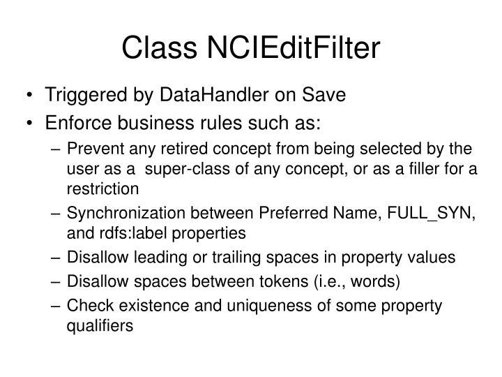 Class NCIEditFilter