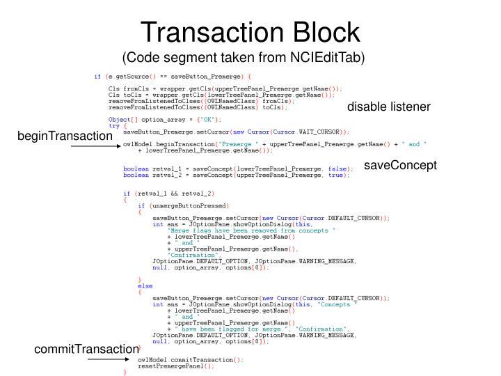 Transaction Block