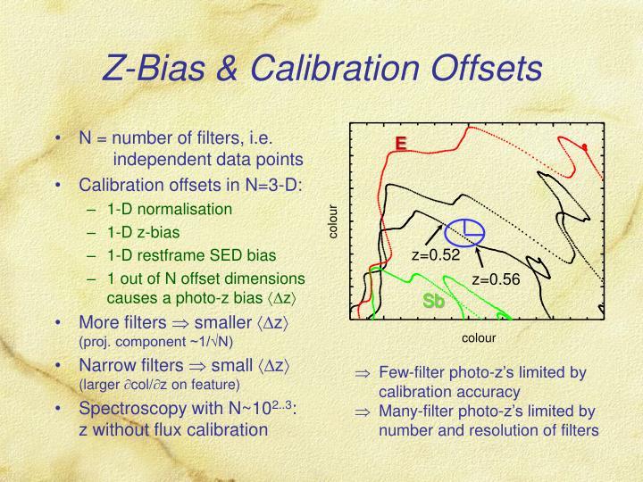 Z bias calibration offsets