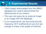 4 experimental results