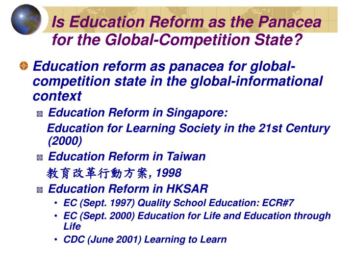 Is Education Reform as the Panacea for the Global-Competition State?