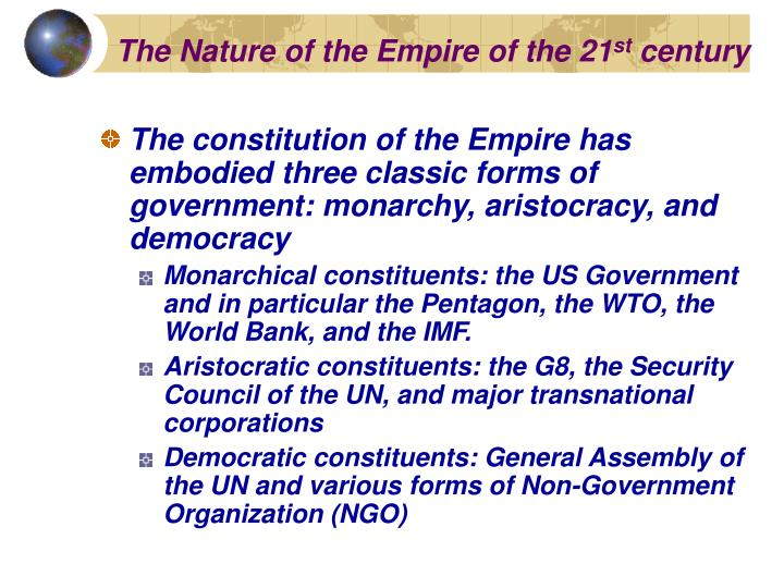 The Nature of the Empire of the 21