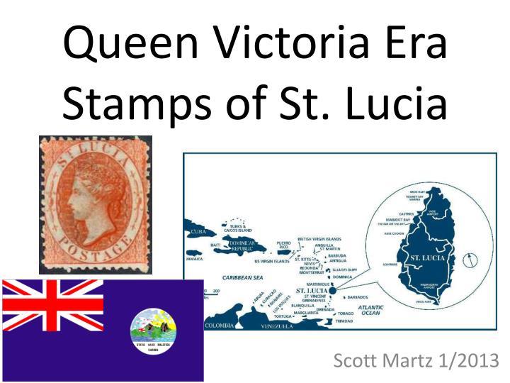 Queen victoria era stamps of st lucia