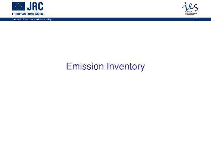 Emission Inventory