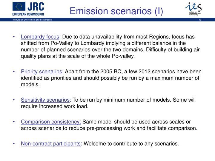 Emission scenarios (I)
