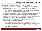 momenta 271 e 1 safe harbor
