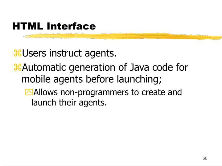 HTML Interface