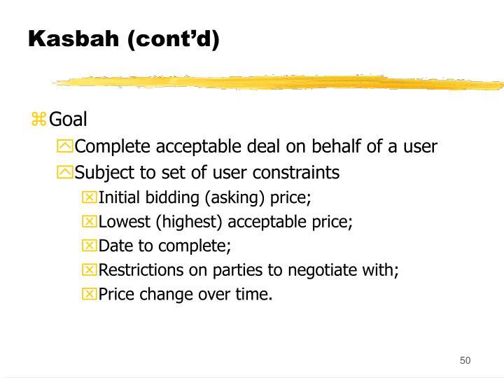 Kasbah (cont'd)