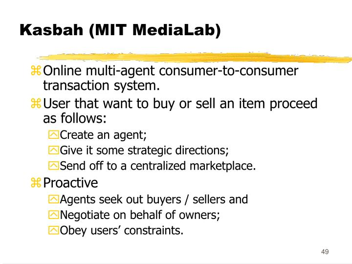 Kasbah (MIT MediaLab)