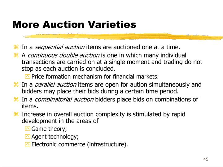 More Auction Varieties