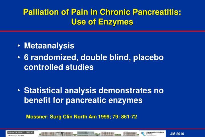 Palliation of Pain in Chronic Pancreatitis: