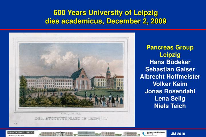 600 Years University of Leipzig