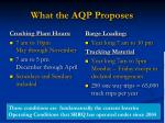 what the aqp proposes1