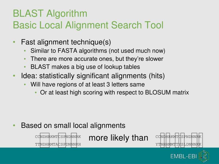 BLAST Algorithm