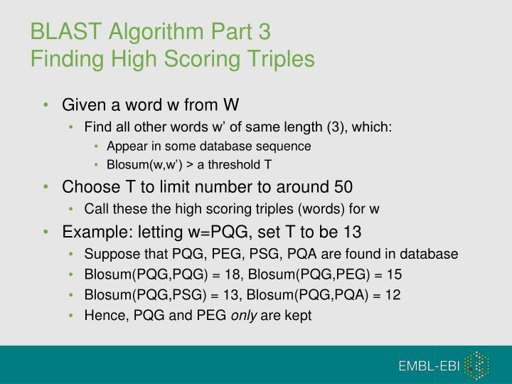 BLAST Algorithm Part 3