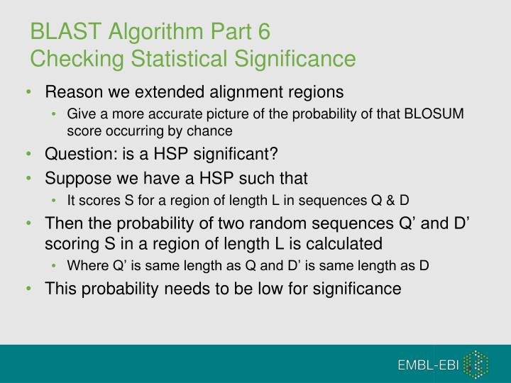 BLAST Algorithm Part 6