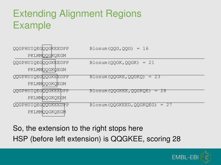 Extending Alignment Regions