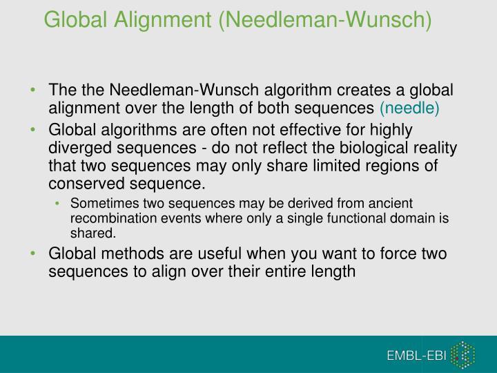 Global Alignment (Needleman-Wunsch)