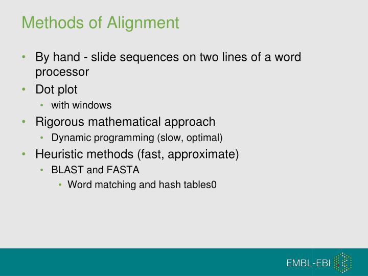 Methods of Alignment