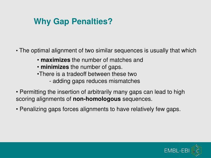 Why Gap Penalties?