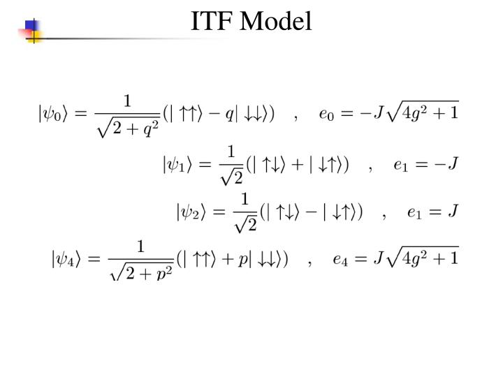 ITF Model