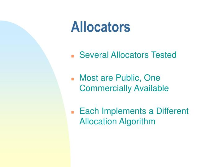 Allocators