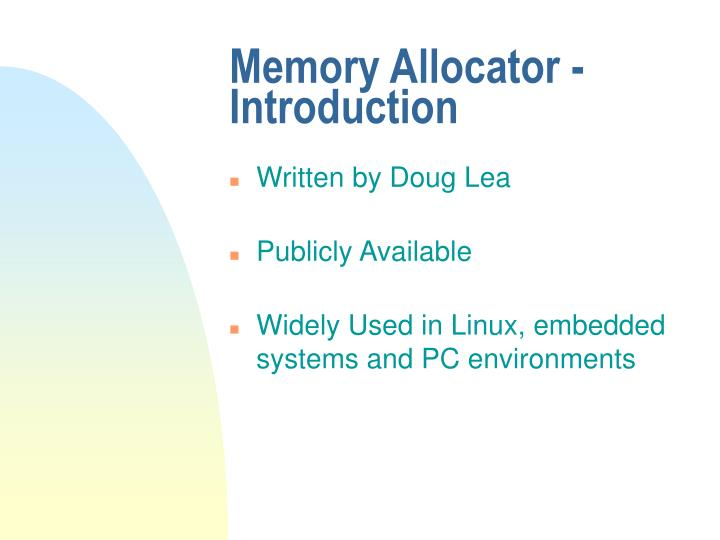 Memory Allocator - Introduction