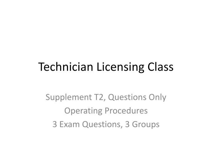 technician licensing class n.