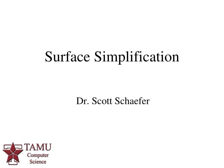 surface simplification n.