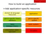 how to build an application