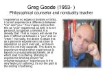 greg goode 1953 philosophical counselor and nonduality teacher