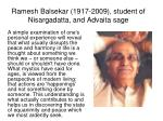 ramesh balsekar 1917 2009 student of nisargadatta and advaita sage