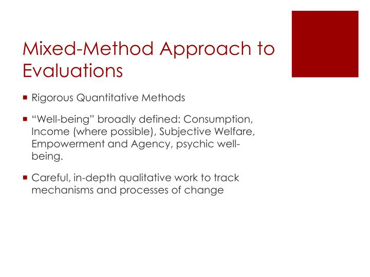 Mixed-Method Approach to Evaluations